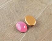 Rose Glass Opal Oval Cabochon 18X13mm (2) cab440Y