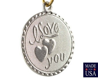 Silver Plated I Love You Word Charm Drop with Loop (4) chr220RR