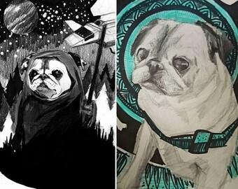 Fun Custom Pet Portraits