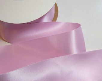 Lavender Ribbon, Double-Faced Pale Lavender Satin Ribbon 2 1/4 inches wide x 10 yards, Offray Pale Lavender Ribbon, SECOND QUALITY FLAWED