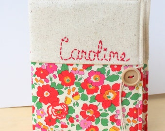 personalized photo album gift Liberty of London hand embroidered mothers day