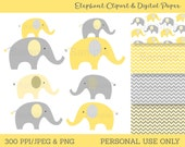 Cute Elephant Clipart / E...