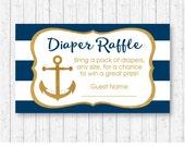 Nautical Diaper Raffle Ti...
