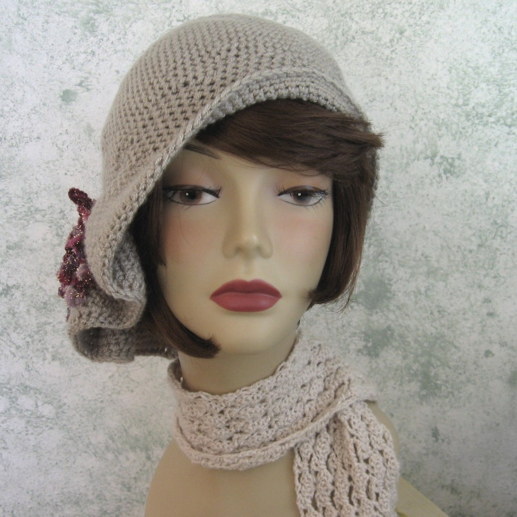 bdb1c6dbc4ef7 ... Women S Hat Styles And Names: Crochet Pattern Womens Hat Flapper Style  Hat With By