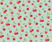 25% OFF Farm Girl Cherry Pie Teal - 1/2 Yard