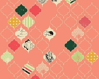 ON SALE Fancy And Fabulous Loving Life Coral - 1/2 Yard