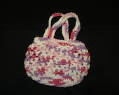 Hand Crocheted Pretty Little Pink Varigated Purse for Little Girl Christmas Present Gift Stocking Stuffer Toddler Valentines Day Birthday
