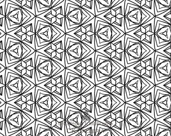 Geometric Design Instant PDF Download Coloring Page, 5
