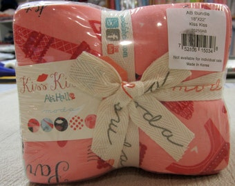 Kiss Kiss  fat quarter bundle - REDUCED