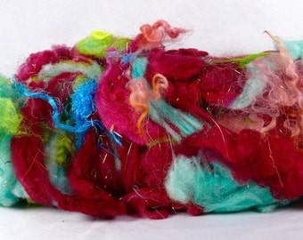 Textured Drum Carded Batt for Spinning and Felting- Sari