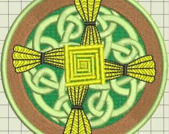 St. Brigids Cross Digitized Machine Embroidery Design