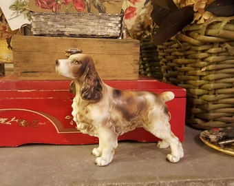 Springer Spaniel Porcelain Animal Figure Japan