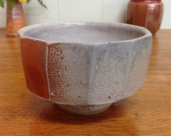Faceted Bowl with Heavy Soda Glaze.
