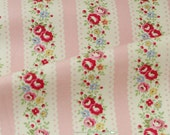 4109 - Cath Kidston Lace Stripe (Pink) Cotton Canvas Fabric - 57 Inch (Width) x 1/2 Yard (Length)