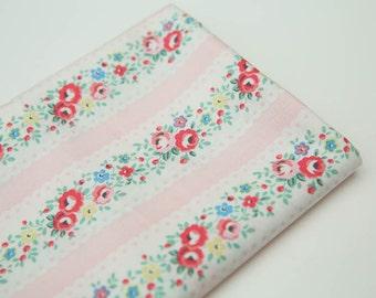 4270 - Cath Kidston Lace Stripe (Pink) Cotton Fabric - 53 Inch (Width) x 1/2 Yard (Length)