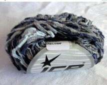 50% off - Blue Grey  ladder Ribbon Yarn, butterfly yarn, Ice Yarns