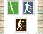 BASEBALL Digital Print Typography Custom Colors
