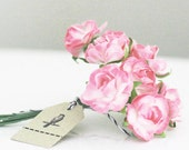 36 Pink and White paper flowers