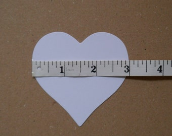 Set of 40 x3 inch heart shaped tags, card stock,white,cream,wishing tree,wedding favor,baby shower,table settings
