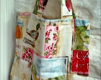 Shopping Bag, Market Bag, Cotton Canvas Shopping Bag - Grocery Bag - Eco Bag - Reusable Bag