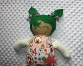 Kennedy Large Handmade Fabric Baby Doll