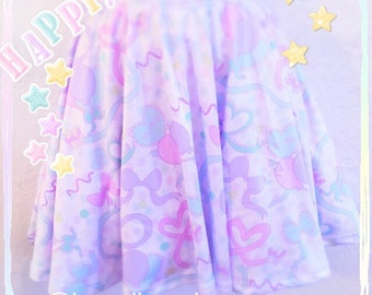 Ribbon Dolly Party skirt, Fairy Kei Skirt, Kawaii Skirt, Party Skirt, Birthday Girl Party Skirt