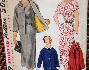 50's simplicity pattern dress/ jacket