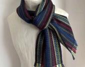 Handwoven Scarf, Merino Wool, Silk, Alpaca by Frederick Avenue