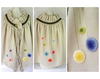 Handwoven, Bohemian, Boho, Ruffle, Floral, Shawl, Wrap by Frederick Avenue