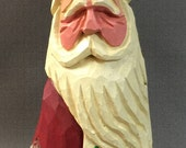 HAND CARVED original Santa from 100 year old Cottonwood Bark.