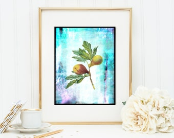 Figs Instant Digital Download DIY Print yourself watercolor