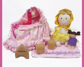 NEW Holly Dolly - PDF Pattern (Doll, Cradle, Giraffe, Blocks, Dollie)