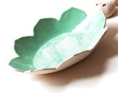 Large Decorative Ceramic Lotus Bowl Centerpiece Stoneware pottery & Recycled Glass Sculpture Housewarming Wedding Gift Idea for Men or Women