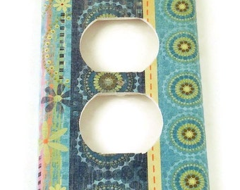 Light Switch Cover Wall Decor  Switch Plate Light Switchplate in  Giggle Stripe (265O)