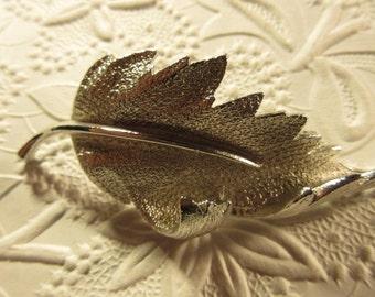 Vintage Coro Leaf brooch