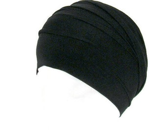 100% Cotton Black Head Wrap Breathes Wide Black Cotton Yoga Headband Mens Bandanna Womens Head Wrap Fitness Headband Boho Head Wraps