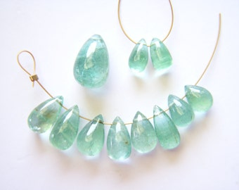RESERVED - Columbian Emerald Polished Briolettes