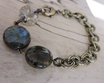 Bohemian Simple Style Chain and Labradorite Beads