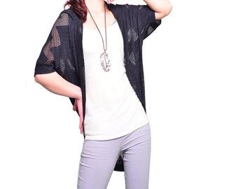 Transparent Meditation - sheer zen shrug / summer sunblock jacket (P1603)