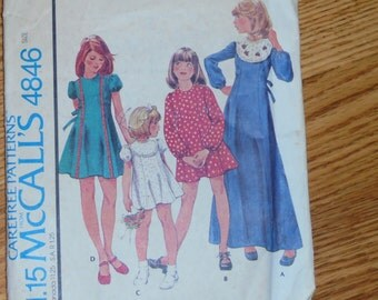 vintage pattern McCalls 4846  Girls dress in size 8
