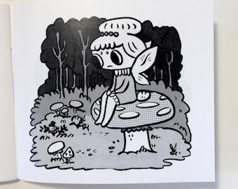 High Fantasy Mini Zine of Drawings by Kinoko Evans