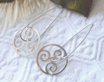 Vintage M.W.Samara .925 Sterling Silver Spinner Earrings