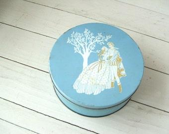 Vintage Romance Tin Wedgwood Blue