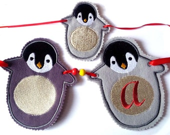 FAT PENGUIN BUNTING Machine embroidery Designs