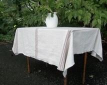 Custom Grain Sack Tablecloth Grain Sack Throw Linen Table Cloth French Country Rustic Wedding Decorations Table Decor Grain Sack Fabric