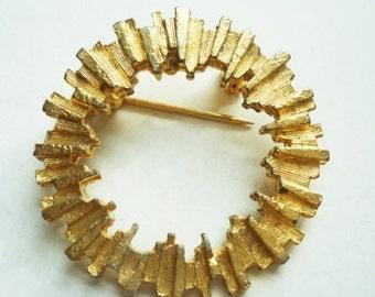 Vintage Sun Circle Pin