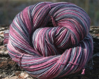 Handpainted Twist Sock Yarn - 80/20% Superwash Blue Faced Leicester Wool / Nylon - Vlad