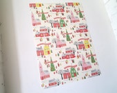 Retro Style Christmas Winter Village Decorative Wrap and Craft Paper by Cavallini