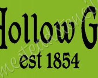 PRIMITIVE STENCIL - 6459 G -Sleepy Hollow Gourd Co. - Clear 5Mil Mylar - Make Your Own Sign