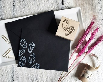 Pair of Diamonds Rubber Stamp by Brown Pigeon and Tusk and Cardinal, aka Bird in the Hand : A special artist collaboration